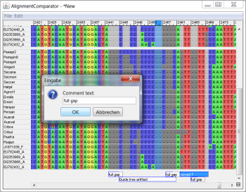 Screenshot of AlignmentComparator
