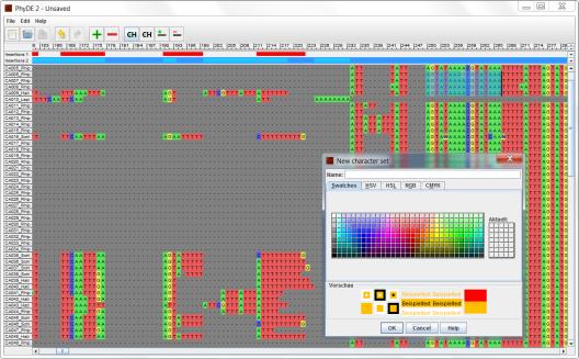 Sample PhyDE 2 editor window